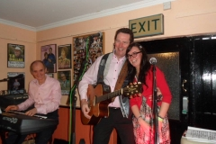Performing with Mick Flavin