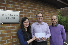 "Presenting a Cheque to the Foyle Hospice from ""A Living Prayer"" CD sales"